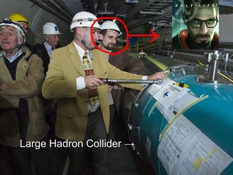 Gordon Freeman spatřen u obřího uychlovače částic