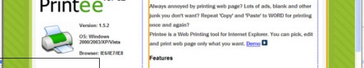 Printee for IE