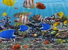 Náhled programu 3D Fish School Screensaver. Download 3D Fish School Screensaver