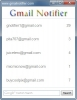 Náhled programu Gmail Notifier. Download Gmail Notifier