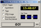 Náhled programu Timed Shutdown. Download Timed Shutdown
