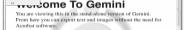 Náhled programu Gemini